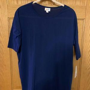 LulaRoe Irma Shirt, Navy in Size M